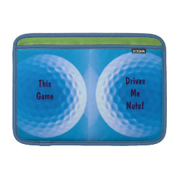 Golf Ball Texture Dimples Arctic Blue Sleeve For MacBook Air