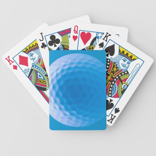 Golf Ball Texture Look Dimples Arctic Blue Bicycle Playing Cards