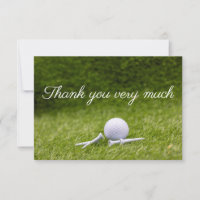 Golf ball Thank you card with golf balls and tees