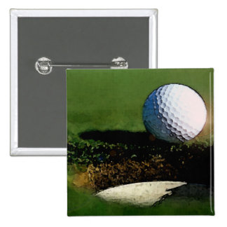 Golf Ball & the Hole Pinback Button