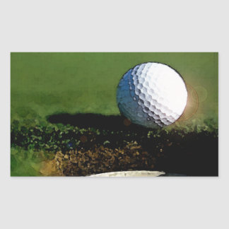 Golf Ball & the Hole Rectangular Sticker