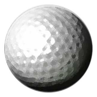 Golf ball theme circle party invitations