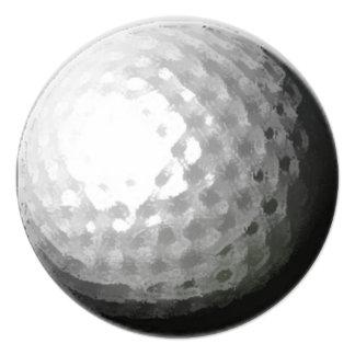 Golf ball theme circle party invitations