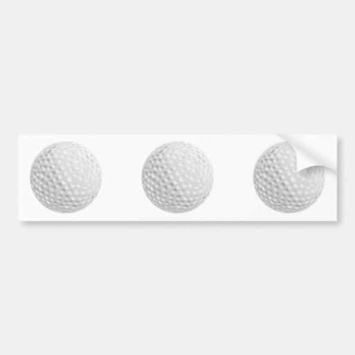 golf ball vector graphic car bumper sticker