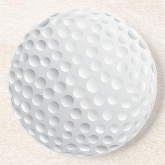 golf ball vector graphic drink coaster