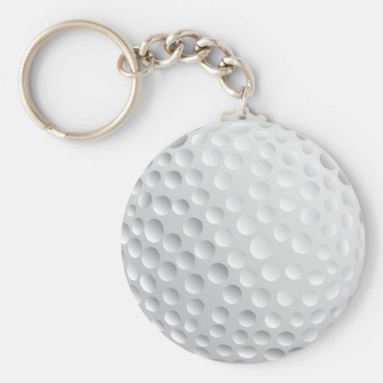 golf ball vector graphic keychain