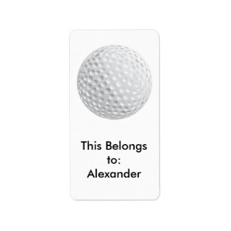 golf ball vector graphic label