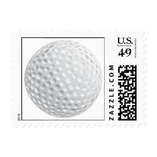 golf ball vector graphic postage