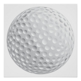 golf ball vector graphic poster