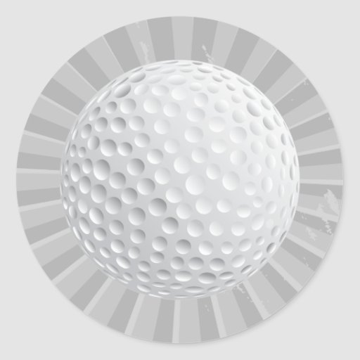 golf ball vector graphic round stickers