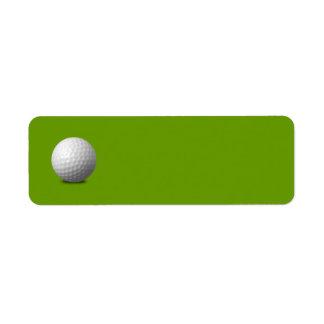 GOLF BALL VECTOR ICON GRAPHICS greens WHITE SPORTS Return Address Label