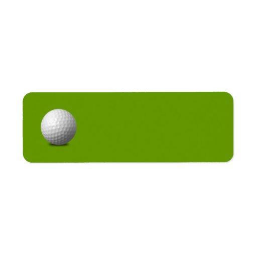 GOLF BALL VECTOR ICON GRAPHICS greens WHITE SPORTS Custom Return Address Label