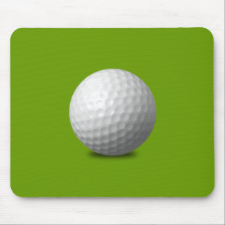 GOLF BALL VECTOR ICON GRAPHICS greens WHITE SPORTS Mouse Pad