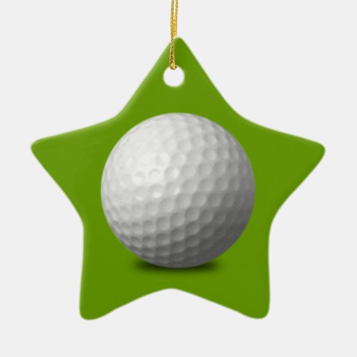 GOLF BALL VECTOR ICON GRAPHICS greens WHITE SPORTS Christmas Ornaments