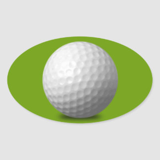 GOLF BALL VECTOR ICON GRAPHICS greens WHITE SPORTS Oval Sticker