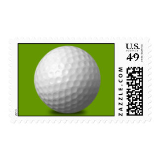 GOLF BALL VECTOR ICON GRAPHICS greens WHITE SPORTS Postage Stamp