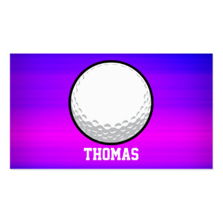 Golf Ball; Vibrant Violet Blue and Magenta Business Card
