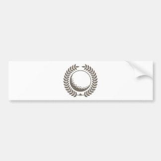 Golf Ball Vintage Design Bumper Sticker