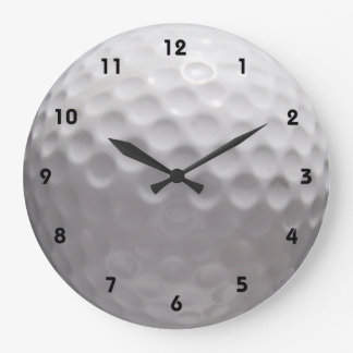 Golf Ball Wall Clock with numbers