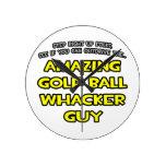 Golf Ball Whacker Guy Clocks