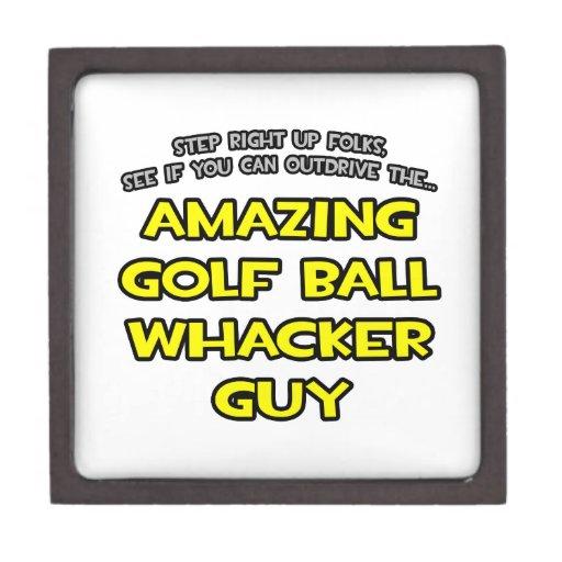 Golf Ball Whacker Guy Premium Jewelry Box