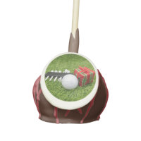 Golf ball with gift for Christmas Cake Pops