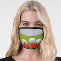 Golf ball with love All-Over Print Face Mask