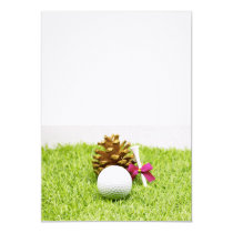 Golf ball with pine cone for Christmas Party Invitation