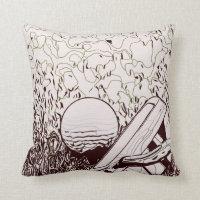 Golf ball with putter throw pillow