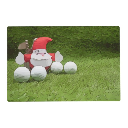 Golf ball with Santa Claus are on Christmas Party Placemat