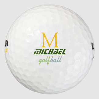 golf ball with stylish monogram