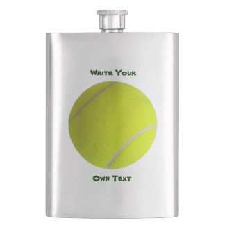 Golf Ball - Write Your Own Text Hip Flask