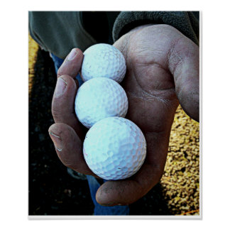 Golf Balls - All Work and Little Play Poster