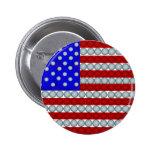 Golf Balls American Flag Round Button
