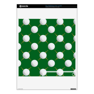 Golf balls and Tees on Green PS3 Slim Console Skins