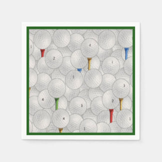 Golf Balls and Tees Disposable Napkins