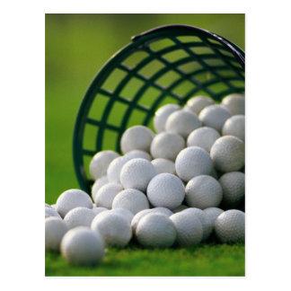Golf Balls Bucket Postcard