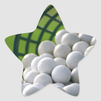 Golf Balls Bucket Star Sticker