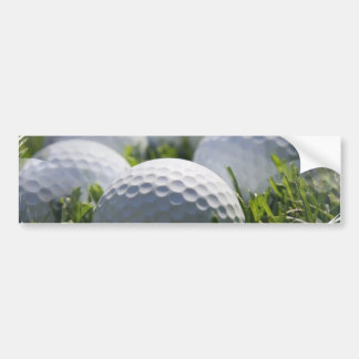 Golf Balls Bumper Sticker Car Bumper Sticker
