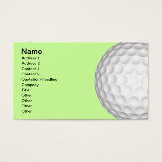 Golf Balls Collage Business Card