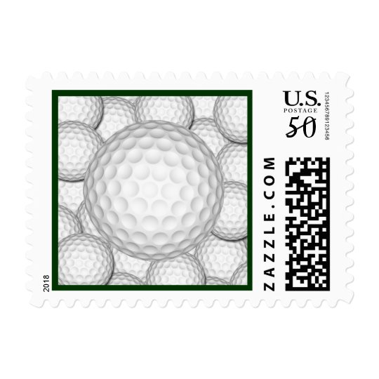 Golf Balls Collage Postage