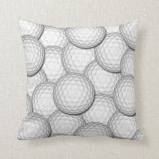 Golf Balls Collage Throw Pillow