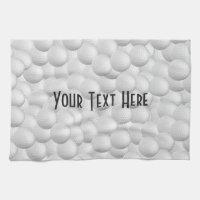 Golf Balls custom hand towel