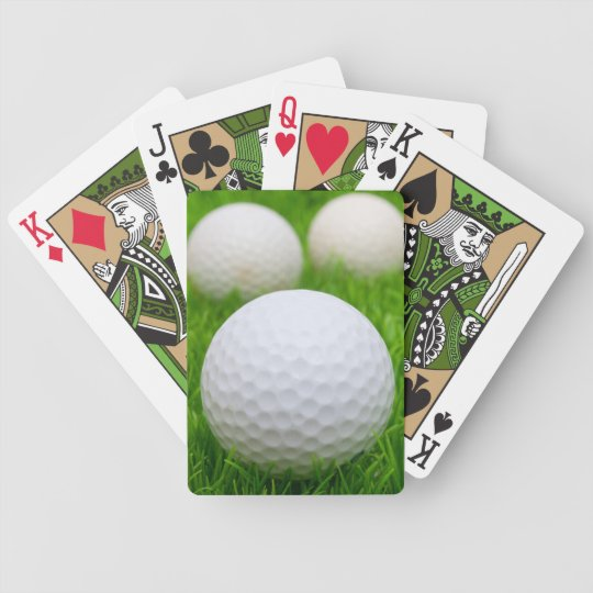 Golf Balls In Grass Bicycle Playing Cards