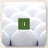 Golf Balls Monogram Coaster