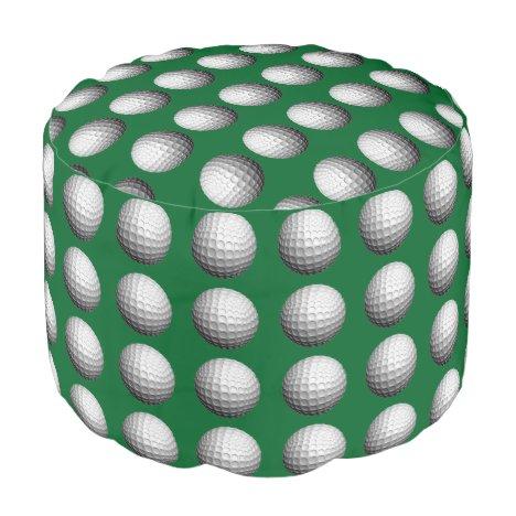 Golf Balls on Green Pouf