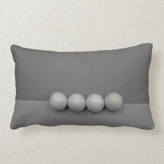 Golf balls on grey background lumbar pillow