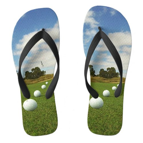 Golf Balls On The Green, Flip Flops