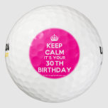 [Crown] keep calm it's your 30th birthday  Golf Balls Pack Of Golf Balls