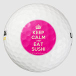 [Crown] keep calm and eat sushi  Golf Balls Pack Of Golf Balls
